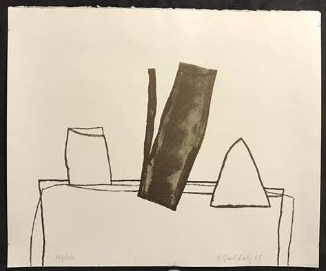 Klaas Gubbels - Theepot - 50 x 60 cm - Houtsnede