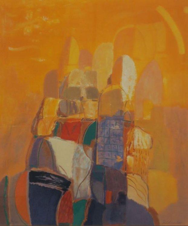 Ahmed Baldin - Dag - 98,5 x 83,5 cm - zeefdruk op papier - in aluminium lijst
