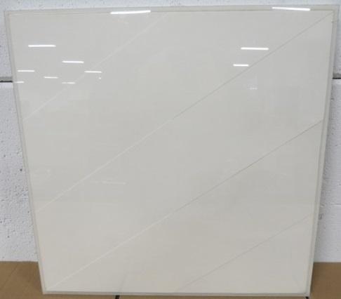 Fons Brasser - Nr. 53 II - 51 x 51 cm - Collage/tekening op papier - in lijst achter plexiglas