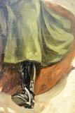 Studiewerk Cavalerie ruiter Olie op paneel 46 x 56,5 cm ingelijst