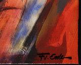 Frits van Eeden - Het Gesprek - 90 x 120 cm - Polygrafiek op doek