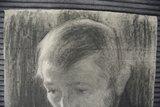 Jan Toorop - houtskool tekening op papier (zelfportret?) - 40 x 31 cm