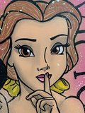 Alvin Silvrants - Sexy Snow White and Belle, Victoria's Secret Lingerie  - 70 x 50 cm - Acryl op doek