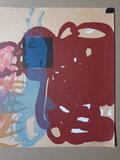 Alberto Arranz-Bravo - Abstracte configuratie - 56 x 76cm - Kleurenlitho