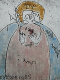Anton Heyboer - Maria met heilig hart en een olijftak