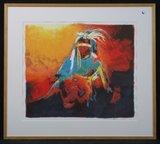 Gerard 't Hart - Shamaan 3 - 83 x 93 cm - zeefdruk op papier