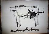 Anton Heyboer - Het Dier - 78 x 108 cm - oostindische inkt op papier