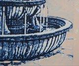Luc de Weert - Italië II - 49 x 53 cm - Linosnede en acryl op papier