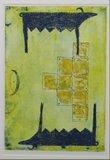 Ans Zondag - Quantum chromodynamica 1 - ets op papier - 66 x 51 cm