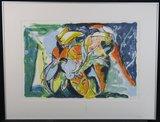 Anton Vrede - Mirror Man - 100,5 x 130,5 cm - litho op papier