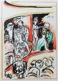 Kees van Dongen - Theater - 25,5 x 20 cm - Pochoirdruk