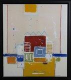 Ron van der Werf - Monotype - zonder titel - 74 x 66 cm - monotype op papier en doek - ingelijst