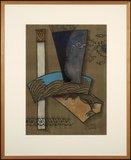 Valentin Bakardjiev - Abstract II - 83 cm x 68 cm - Gouache op papier