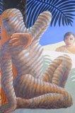 Adri van de Beukel - Woestijnsybille - 135 x 94 cm - Olieverf op board - ingelijst