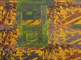 Mirjam Bürer - Bibliotheek - 78 x 97 cm - Zeefdruk op papier - ingelijst
