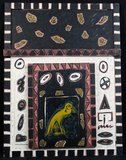 Peter Capiteijns - zonder titel - 107,5 x 81 cm - Gemengde techniek op paneel - ingelijst