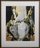 Anita Duif - Witte Tulp - 113x93cm - zeefdruk op papier - ingelijst