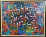 Jan van Holthe - Croix - 42 x 52 cm - olieverf op doek - ingelijst