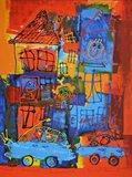 Ad Verstijnen - Sightseeing - 95 x 75 cm - zeefdruk op papier