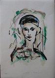 Ernesto Treccani - Figure - 50 x 35 cm - Litho of fabriano papier