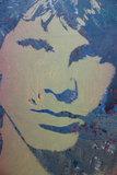 Peter Donkersloot - Jim Morrison - 90 x 70 cm - Unica: handbeschilderde zeefdruk op doek