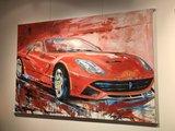 Eric Jan Kremer - zonder titel IV (Ferrari F12) - 200 x 140 cm - Acrylverf op doek