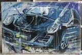 Eric Jan Kremer - Porsche - 150 x 100 cm - Acrylverf op doek