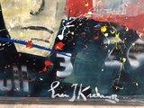 Eric Jan Kremer - Max Verstappen Red Bull (rood) - 150 x 100 cm - Acrylverf op doek