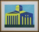Ko Aarts - zonder titel - 68 x 83 cm - litho op papier - in houten lijst