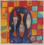 Marianne Aulman - Sirenen - 61 x 61 cm - Zeefdruk op papier - in aluminium lijst