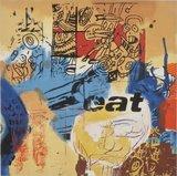 George Heidweiller - Eat - 87 x 90 cm - Zeefdruk op papier - in houten (sier)lijst