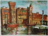 Jeroen Hermkens - Rijstpellerij Hollandia, Wormer  - 70,5 x 90,5 cm - litho op papier