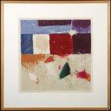 Alexander Vogels - Zonder titel III - 78 x 78 cm - zeefdruk op geschept papier - in houten lijst