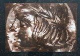 Titus Nolte - Zonder titel II - 73 x 83 cm - Zeefdruk op papier - in zwarte houten lijst