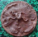 Salvador Dali - Cantique des Cantiques, Visage caché de l'Aimée - koperen sculputure - diameter 8cm