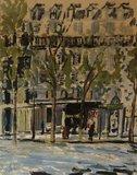 Jacques Philipszoon - Parijs - 50 x 60 cm - Gouache op papier - ingelijst en achter glas
