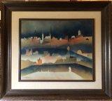 Efraim Modzelevich - Jeruzalem - 60 x 68 cm - Olieverf op doek - ingelijst