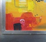 Han Teng - zonder titel V - 97 x 97 cm - Acryl op doek - in houten lijst