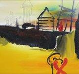 Han Teng - zonder titel VI - 80 x 80 cm - Acryl op doek - op spieraam met ophangsysteem