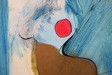 Susan Schildkamp - Maanvrouw - 63 x 63 cm - Gemengde techniek op kunststof - in houten baklijst