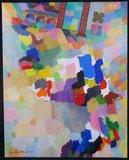 Jan van Holthe - La porte Du ciel - 92 x 73 cm - olieverf op doek
