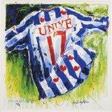 Henk Hofstra - Heerenveen - 71 x 71 cm - Zeefdruk op papier - in aluminium lijst