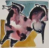 Johan Meeske - Zonder titel - 87 x 68,5 cm - Aquarel op papier - ingelijst in aluminium lijst_