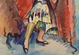 Freek van den Berg - Spaanse danseres - 55,5 x 38 cm - Aquarel