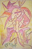 Andries Heyboer - I - 120 x 79,5 - wasco (vetkrijt) op karton
