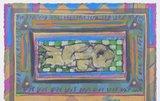 Eric Toebosch - zonder titel - 63 x 53 cm - Mixed media - in zilverkleurige lijst