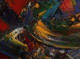 Bert Smidt - zonder titel - 63 x 73 cm - Acryl op doek - in decoratieve gouden lijst