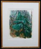 Marianne Plug - Noord - 62,5 x 52,5 cm - Zeefdruk op papier - in houten lijst