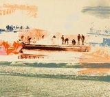 Marianne Plug - De Brug - 59 x 74 cm - Zeefdruk op papier - in houten lijst