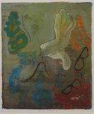 Jeroen Olthof - zonder titel - 63 x 53 cm - Gouache op papier - in houten lijst